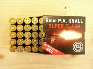 Халостни патрони за пистолет с повишен светлинен ефект- 9 мм.